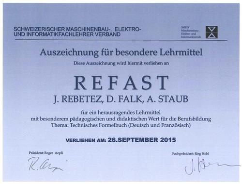 Auszeichnung für das Formelbuch